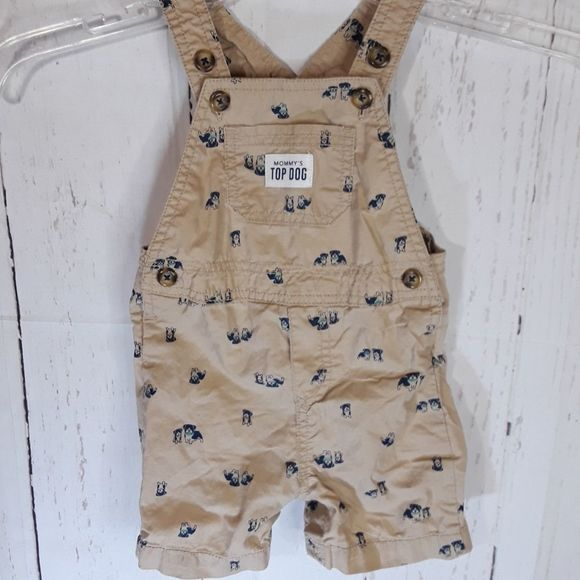 Carter's | 'Mommy's Top Dog' Shorts Overalls | 9M
